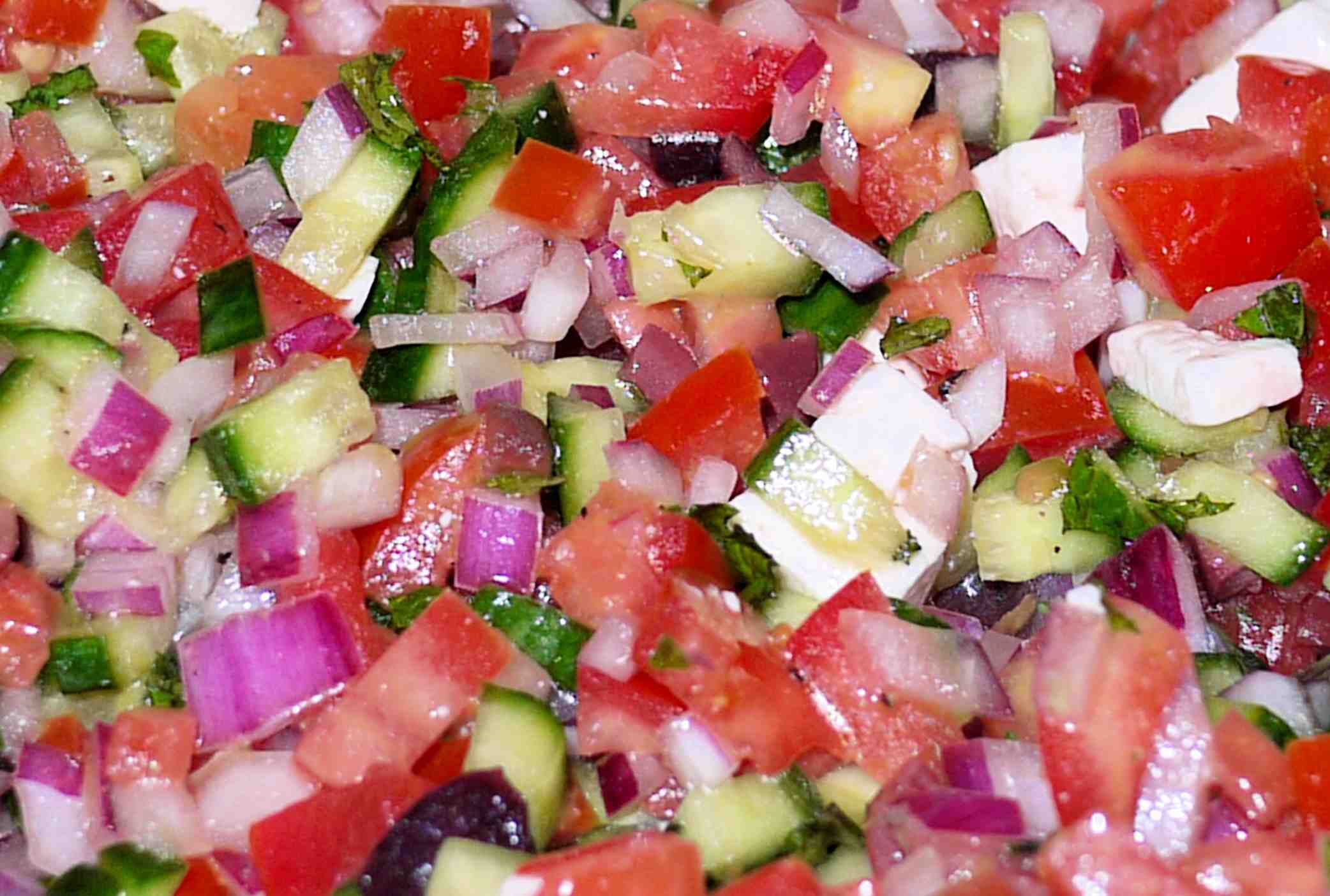 Tomato and Cucumber Salad | This little piggy went to the farmers ...